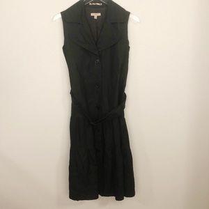 Burberry London Black Button Dress Sz 4